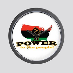 Power To People Wall Clock