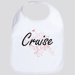 Cruise surname artistic design with Butterflie Bib