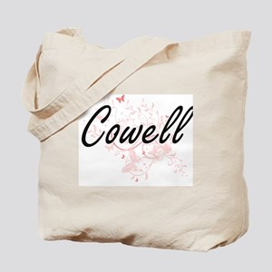 Cowell surname artistic design with Butte Tote Bag