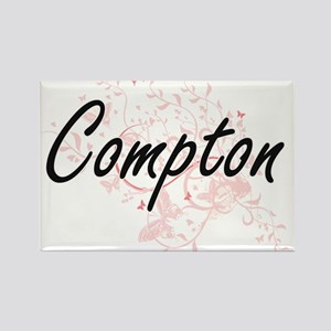 Compton surname artistic design with Butte Magnets