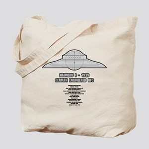 Haunebu I Flying Disc Tote Bag