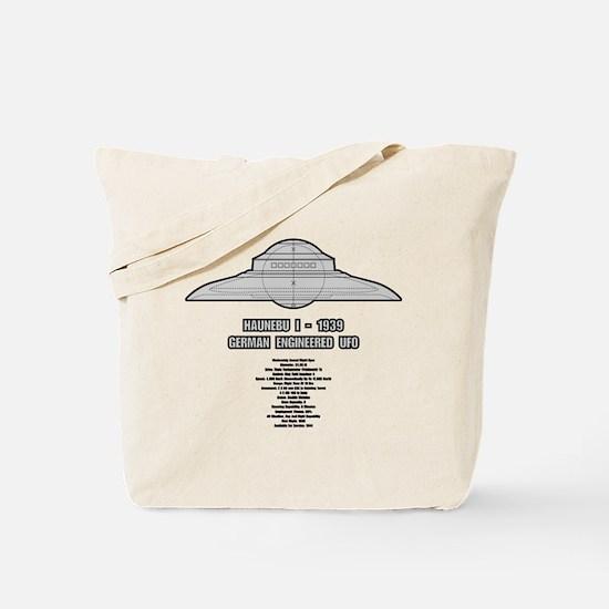 Haunebu I Flying Disc Tote Bag