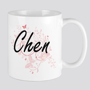 Chen surname artistic design with Butterflies Mugs
