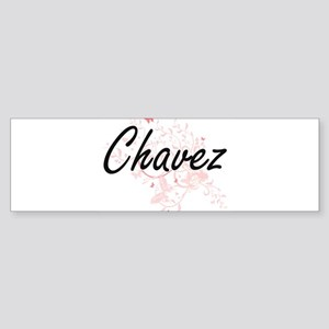 Chavez surname artistic design with Bumper Sticker