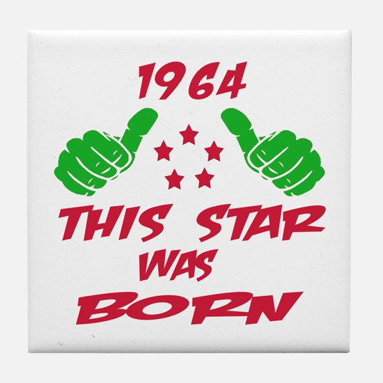 1964 This star was born Tile Coaster