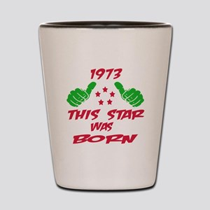 1973 This star was born Shot Glass
