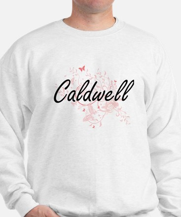 Caldwell surname artistic design with B Sweatshirt