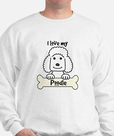 Cute Black miniature poodle Sweatshirt
