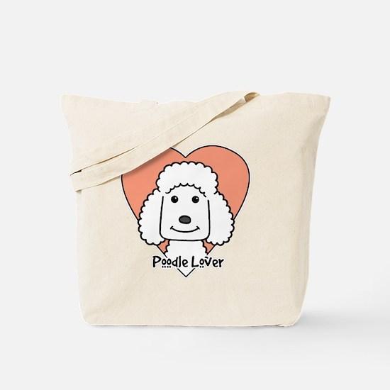 Cute Standard poodle cartoon Tote Bag