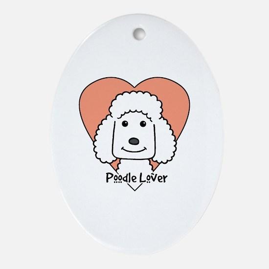 Unique Poodle art Oval Ornament