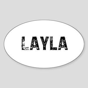 Layla Oval Sticker