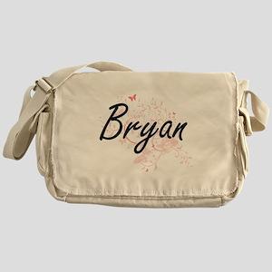 Bryan surname artistic design with B Messenger Bag