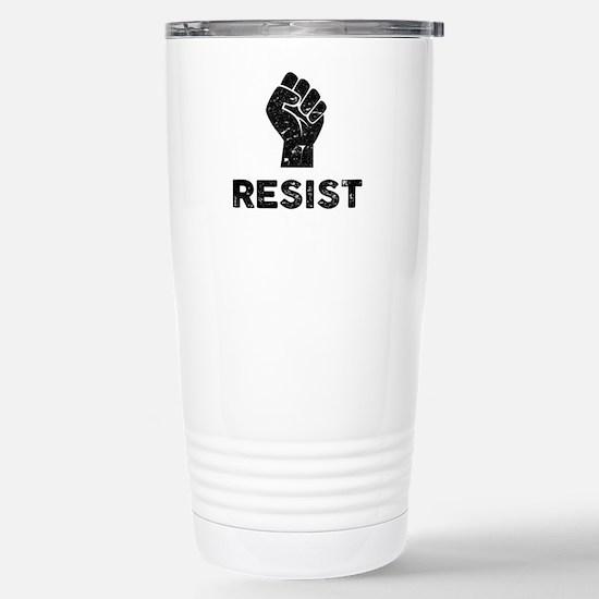 Resist Fist Distressed Stainless Steel Travel Mug