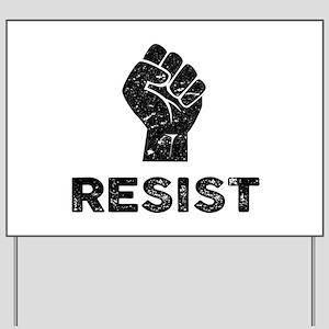 Resist Fist Distressed Yard Sign