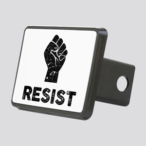 Resist Fist Distressed Rectangular Hitch Cover