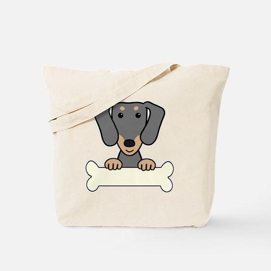Cute Brown dachshund Tote Bag