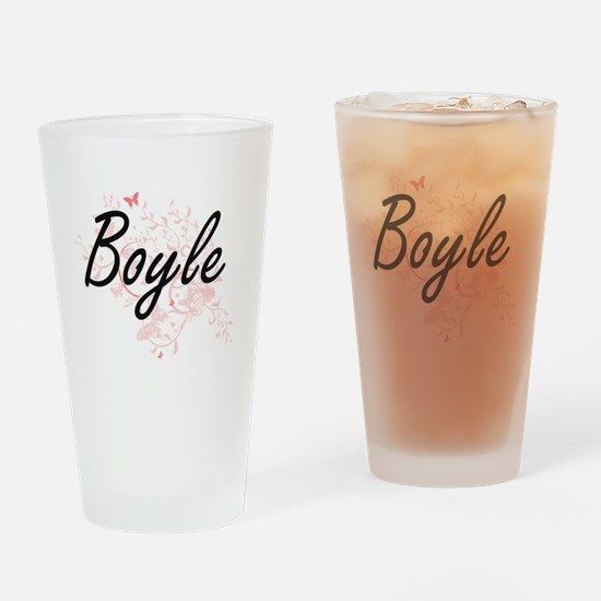 Boyle surname artistic design with Drinking Glass