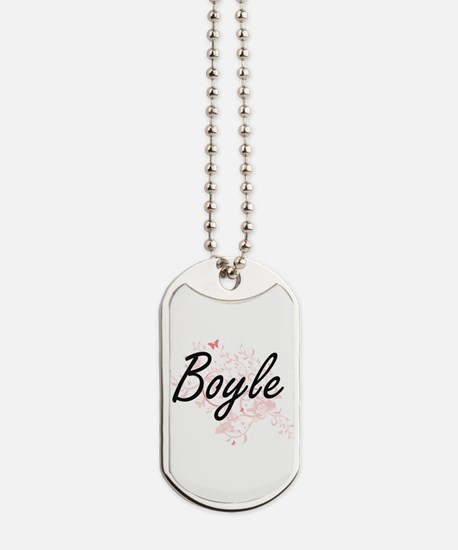 Boyle surname artistic design with Butter Dog Tags