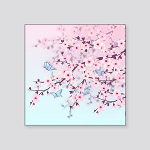 Cherry Blossom with Butterfly Sticker