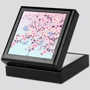 Cherry Blossom with Butterfly Keepsake Box