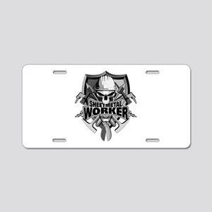 Sheetmetal Worker Skull Aluminum License Plate