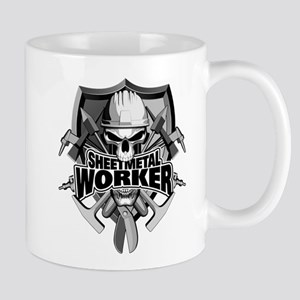 Sheetmetal Worker Skull Mugs