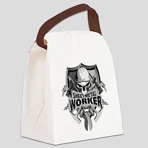 Sheetmetal Worker Skull Canvas Lunch Bag