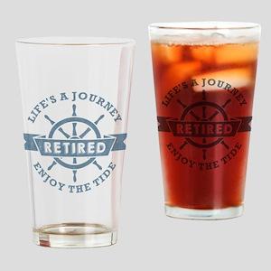 Nautical Retired Drinking Glass
