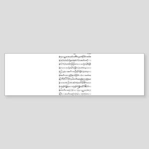 Wolfgang Amadeus Mozart Bumper Sticker