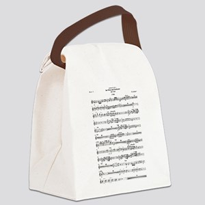 Wolfgang Amadeus Mozart Canvas Lunch Bag