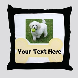 Personalize Dog Gift Throw Pillow