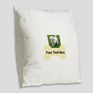 Personalize Dog Gift Burlap Throw Pillow