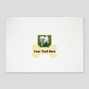 Personalize Dog Gift 5'x7'Area Rug