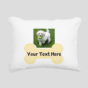 Personalize Dog Gift Rectangular Canvas Pillow