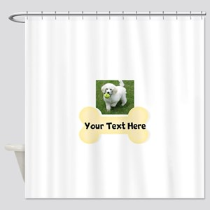 Personalize Dog Gift Shower Curtain