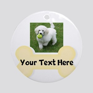 Personalize Dog Gift Round Ornament