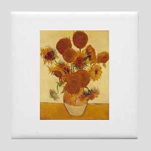 15 Sunflowers Tile Coaster