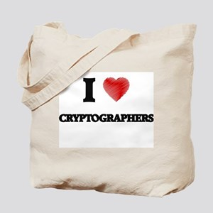 I love Cryptographers (Heart made from wo Tote Bag