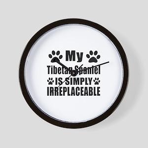 Tibetan Spaniel is simply irreplaceable Wall Clock
