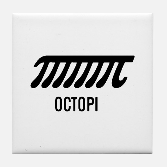Octopi has eight arms Tile Coaster