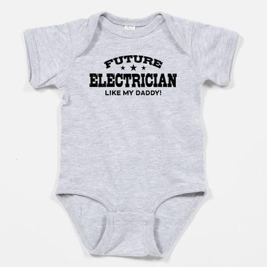 Cute I love electricians Baby Bodysuit