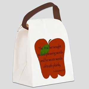 Ecclesiastes 12:10 Canvas Lunch Bag