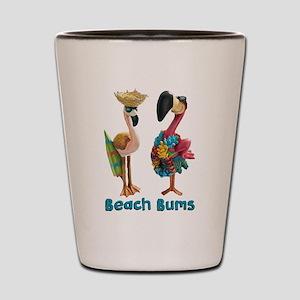 Flamingo Beach Bums Shot Glass