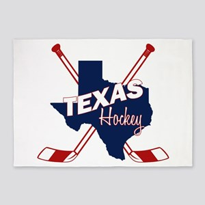 Texas Hockey 5'x7'Area Rug