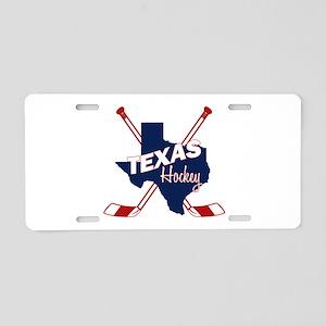 Texas Hockey Aluminum License Plate