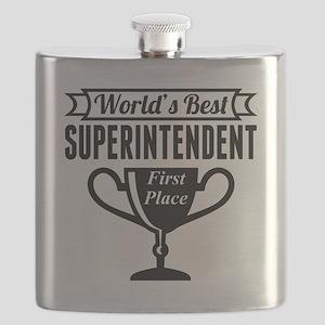 World's Best Superintendent Flask