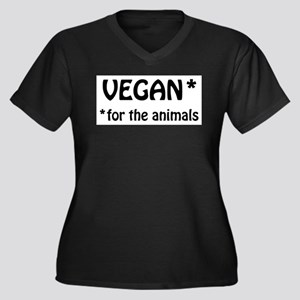 Vegan for the Animals Plus Size T-Shirt