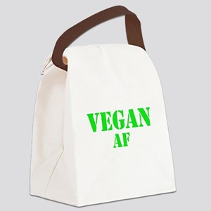 Vegan AF Green Canvas Lunch Bag