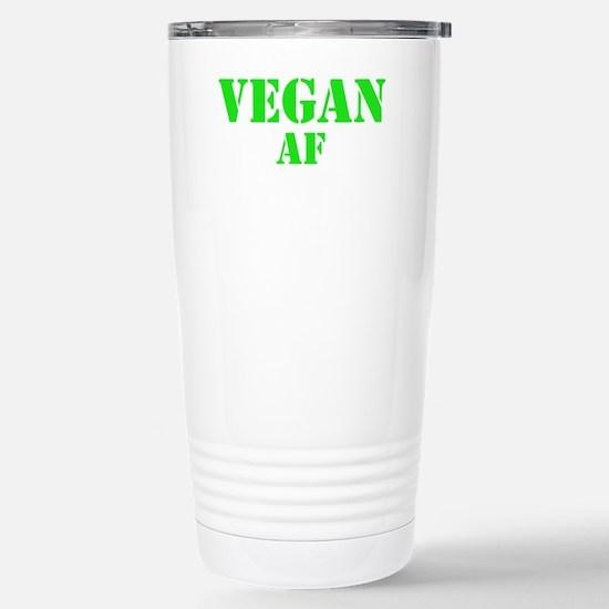 Vegan AF Green Stainless Steel Travel Mug