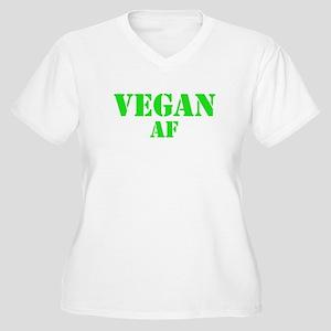 Vegan AF Green Women's Plus Size V-Neck T-Shirt